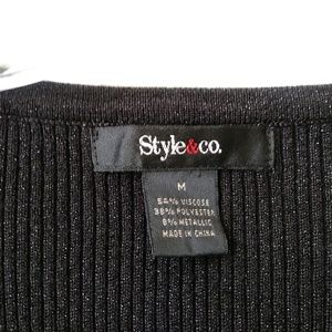 Style & Co Tops - Style & co. black long sleeve top